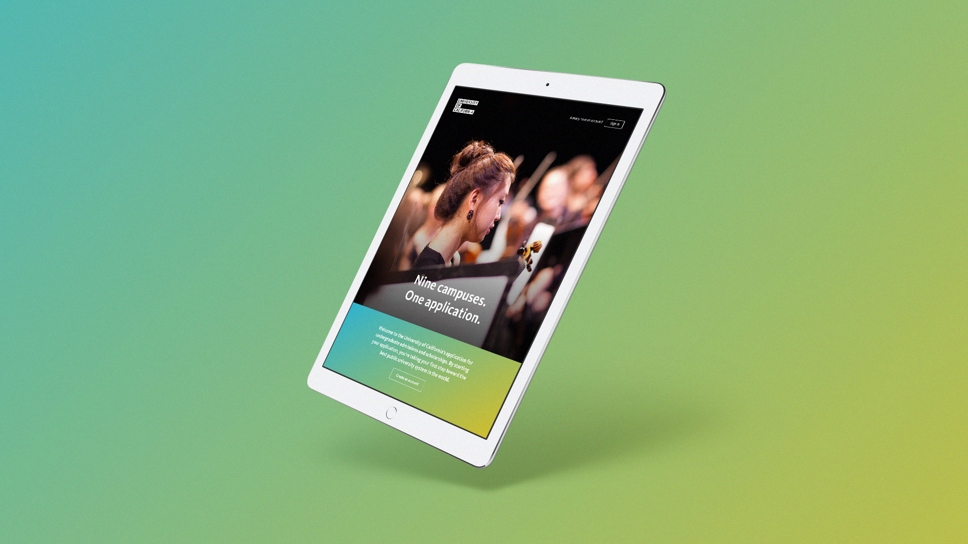 iPad Website Mock Up